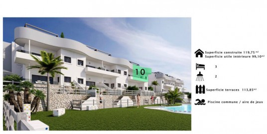 3 Bedroom Penthouse Apartment For Sale Costa Blanca Golf Course