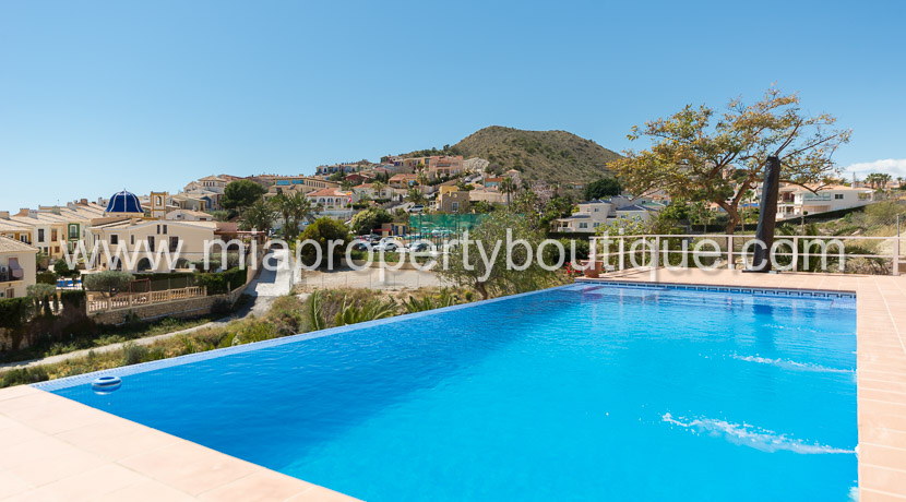villa with sea views campello costa blanca infinity pool