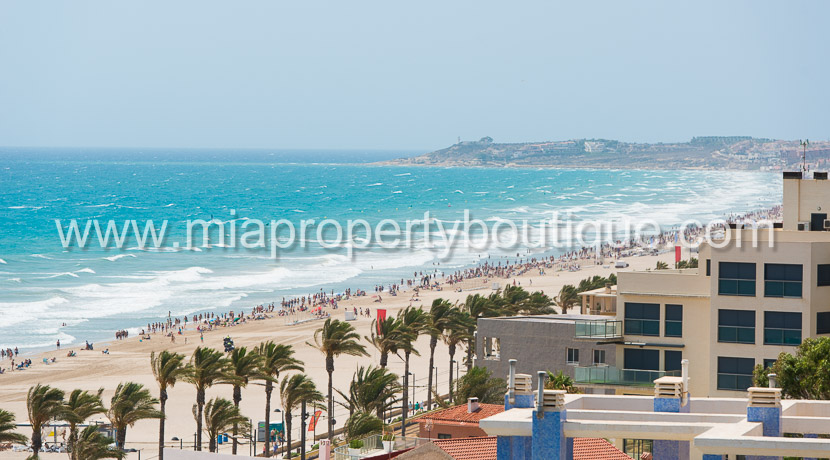 apartment for rent sea views el campello muchavista costa blanca