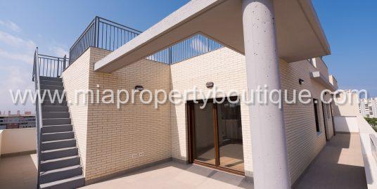 Modern Penthouse with Solarium, Cabohuertas