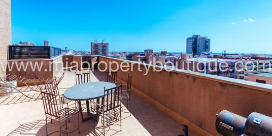Penthouse with Castle & Sea Views,  Alicante